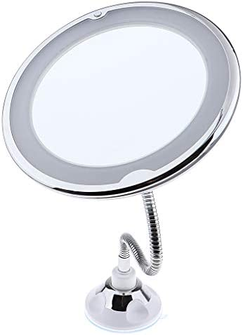 Flameer Wall Mount Led Makeup Mirror 10x Magnifying Lighted Vanity Extendable Adjustable Gooseneck Bathroom Mirror With Suction Cup Amazon Com Au Beauty