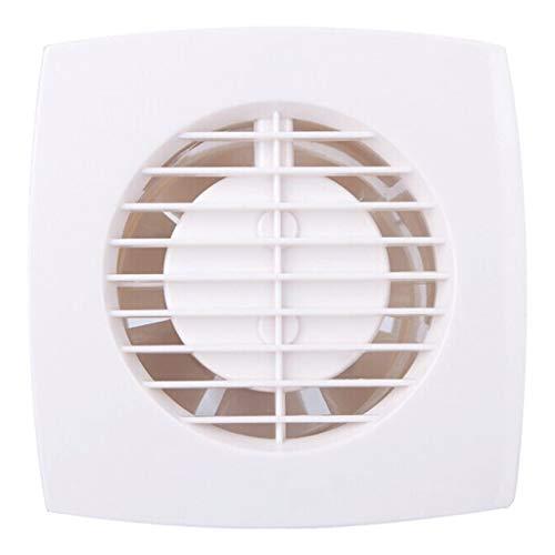 Badkameraccessoires, fan, badkamer, huishoudelijke wandventilator, stille ventilator, laag energieverbruik, fan, kleine topfan, kunststof wit, aanbieding maat 4 inches