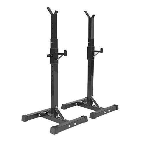 BreeRainz Soporte para pesas y sentadillas, portátil, estable, multifunción, para entrenamiento de fuerza, discos de peso, pesas largas, en casa