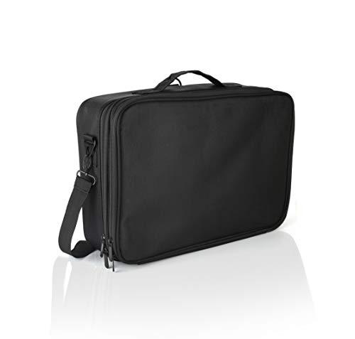 "MCB Portable Professional Organizer Makeup Bag 14"", Makeup Artist Train Case, Makeup and Cosmetic Traveling Kit, Waterproof, Black (Medium)"