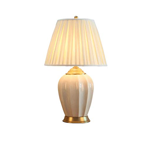 NXYJD LED Dormitorio Medieval Creativa Moderna Minimalista lámpara de Mesa florero Blanco Hecho a Mano Sombra Sala Familiar