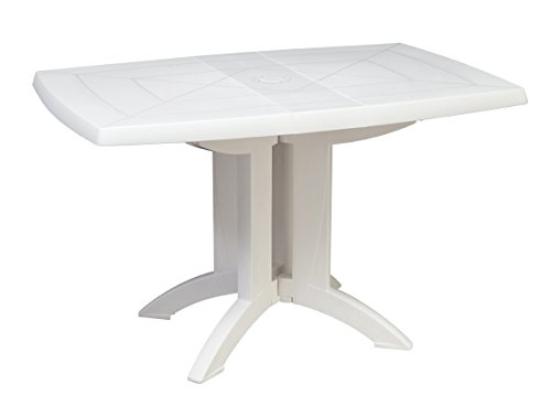 GROSFILLEX Table Vega 118 x 77, Blanc, 118 x 77 x 72 cm