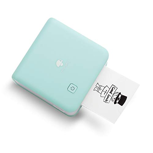Phomemo M02 Pro 300dpi Mini stampante Fotografica Termica Portatile Stampante Adesiva Bluetooth Compatibile con Carta da 15,25,53 mm, per Stampa Fotografica, Apprendimento, Lavoro - Ciano