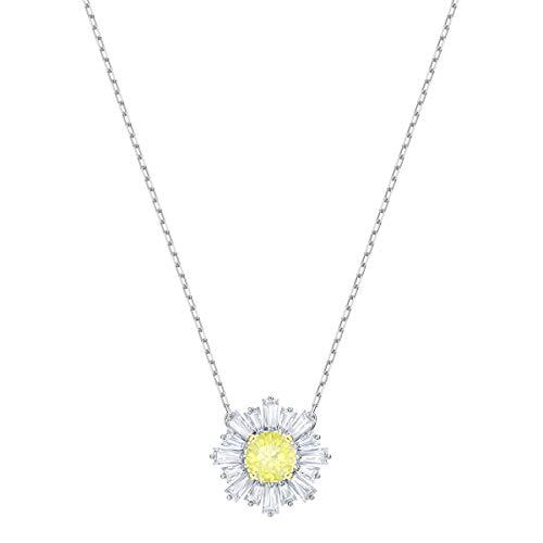 Swarovski Sunshine Anhänger für Frauen, gelbes Kristall, rhodiniert