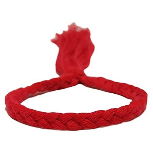 LYWER La Cuerda de Mano exótica por el mar Estudiantes Sencillo Regalo Personalizado Especial de la animación roja y Blanca de la animación Que rodea de algodón y la Pulsera de Lino Regalo