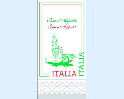 Everflag Restaurant-Servietten Italien mit Sprachkurs 125er Pack