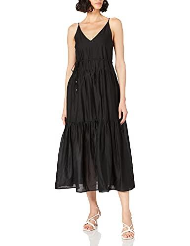 Only Onlvivi SL Maxi Dress Noos Wvn Vestido, Negro, XS para Mujer