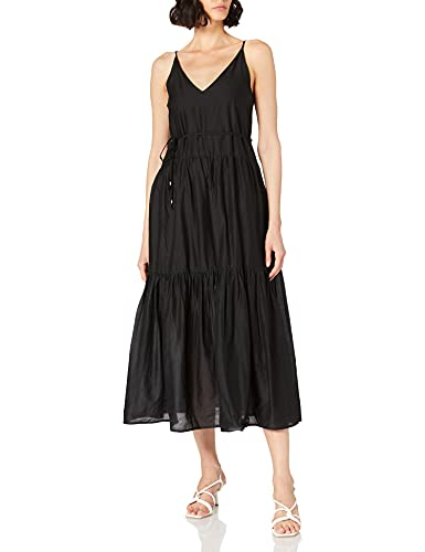 Only Onlvivi SL Maxi Dress Noos Wvn Vestido, Negro, S para Mujer