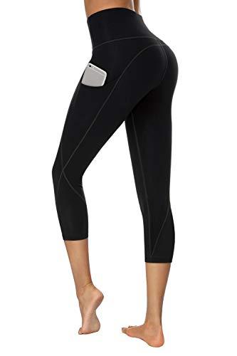 TUNGLUNG Capri Leggings, Capri Yoga Pants with Pockets Tummy Control Workout Pants 4 Way...