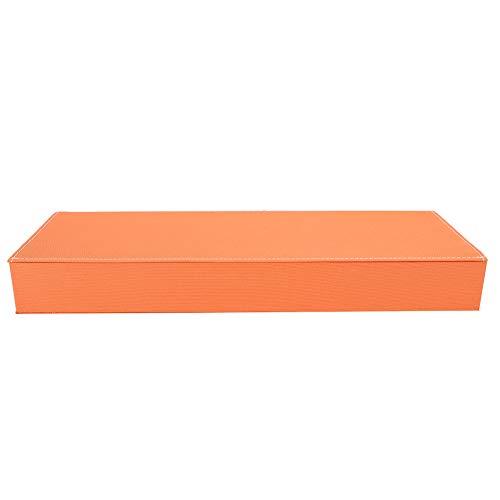Organizador de gafas de sol portátil, exquisita vitrina de gafas de viaje, reloj de almacenamiento y anteojos para viajes Uso doméstico Uso de tienda óptica(Orange)