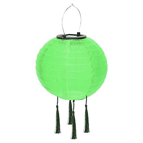 Farolillos solares multicolor, cadena de luces solares, para exteriores, 10 pulgadas, resistente al agua, luz exterior global (verde)