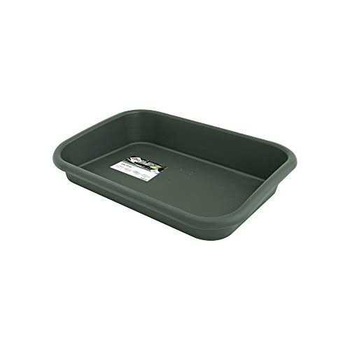 Preisvergleich Produktbild Elho Green Basics Anzucht Unterlage - Laubgrün - Drinnen & Draußen - L 59 x W 41.9 x H 11.1 cm
