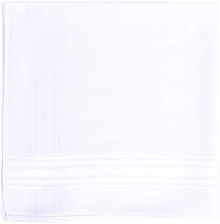 Imperial Men s Handkerchiefs Extra Soft Bamboo Eco Friendly White Hankie Pack of 13 product image