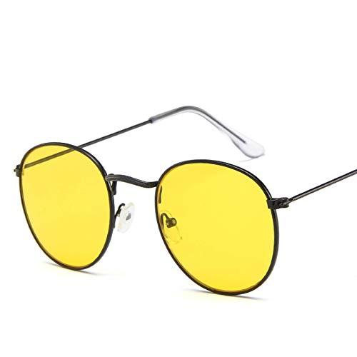 Sunglasses Gafas de Sol de Moda Gafas De Sol Pequeñas Y Redondas para Mujer, Gafas De Sol De Ojo De Aviador para Hombre,