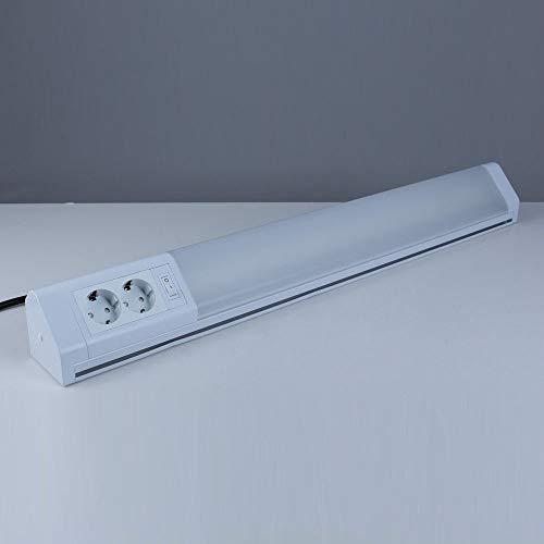 Heitronic LED Unterbauleuchte Bonn 15 Watt weiß mit Schalter/Steckdosen
