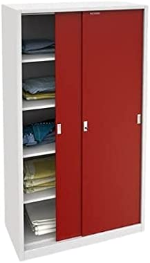 Brown and White Red Steel Cabinets, for Home, Size/Dimension: 1020 X 550 X 1950 Inch Premier Furnishing CO