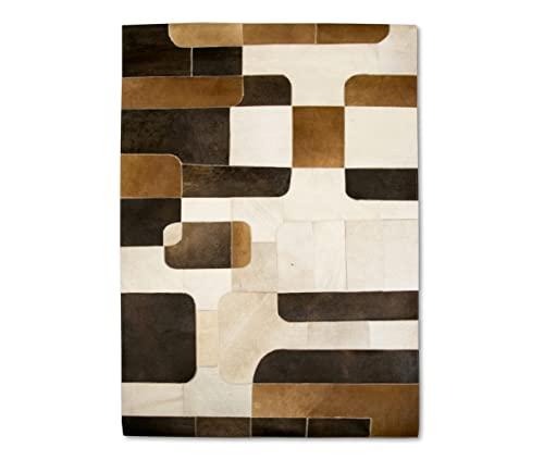 Zerimar Patchwork Kuhfell Teppich   Maßnahmen: 240x300 cm   Teppich Schlafzimmer   Teppich Schlafzimmer Vintage   Kuh Teppich Echt