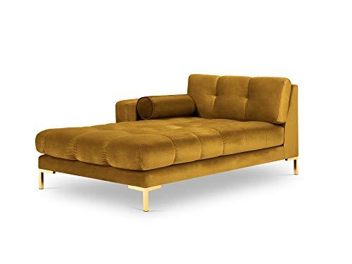 Méridienne Jaune Velours Luxe Design