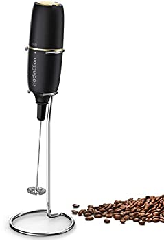 HadinEEon Milk Frother Handheld Electric Milk Foamer for Coffee Coffee Frother with Stainless Steel Whisk Drink Mixer for Bulletproof Coffee Lattes Cappuccinno Matcha and Hot Chocolate