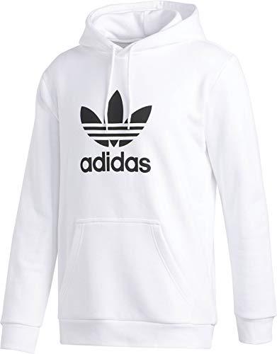 adidas Trefoil Hoodie Sweatshirt, Hombre, White, XS