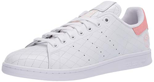 adidas Originals Stan Smith, Zapatillas Deportivas. Mujer, Blanco Blanco Glory Pink, 38 EU