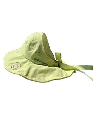 AQ1 Chapeau bébé visière Summer big Brim Protection Solaire Pare-Soleil Vide Top Hat-Baby Models_ Green