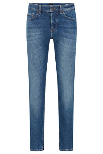 BOSS Herren Taber BC-C Tapered-Fit Jeans aus Stretch-Denim