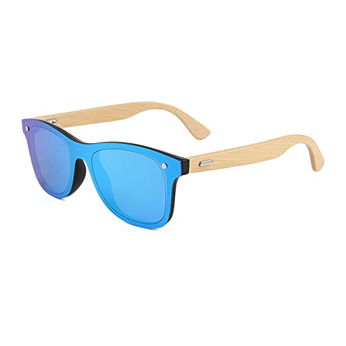 Gafas de sol de madera de bambú para hombre y mujer, polarizadas, unisex, madera auténtica, vintage, UV400, 317M-4