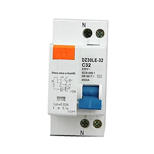 Interruptor de circuito del disyuntor de DZ30LE-32 residual de circuito con Más Corto Corriente de fuga 25A Protección para la Seguridad de la Industria