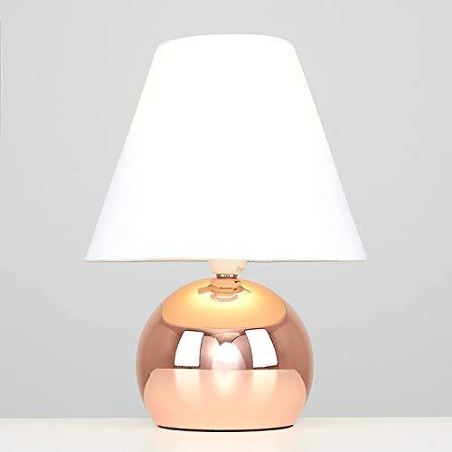 LOT de 2 Lampes Tactiles Touch Variateur d'Intensité à poser Table Chevet Salon Design Maison Cuivré