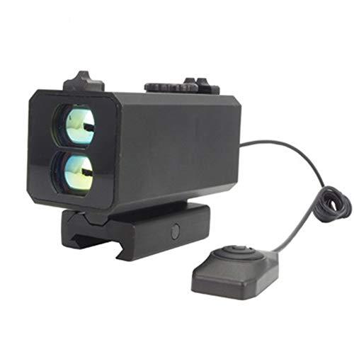 POOPFIY Laser-Entfernungsmesser Montage auf Gewehr-Entfernungsmesser für Outdoor-Jagd-Schießen Entfernung Geschwindigkeitsmeßgerät 700m in Echtzeit,Schwarz