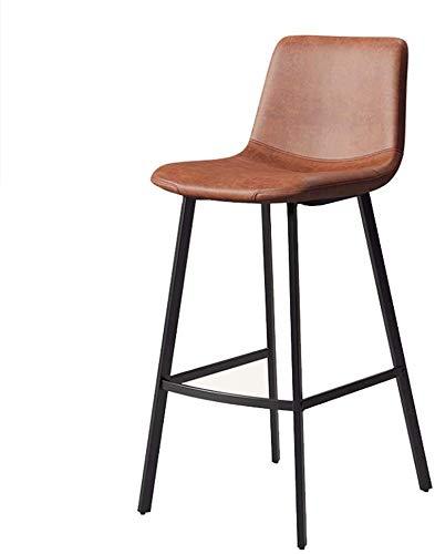DHFDHD Taburete de Bar Piel taburetes de la Barra for el Estilo de la Vendimia cocinas industriales taburetes de Bar Bistro Desayuno Cocina Contador Faux taburetes Altos de Bar (Size : 65cm(25.6)