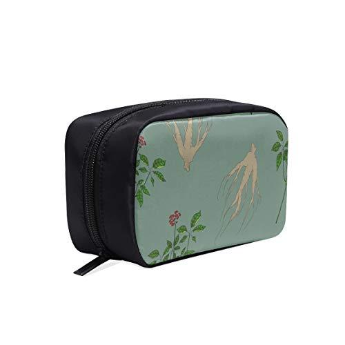 Bolsa de aseo colgante de viaje Ginseng Medicinal Herb Pattern Bolsa de aseo Clear Best Best Cosmetic Bags For Women Mens Fashion Hand Bag Cosmetic Bags Multifunction Case Men Travel Bags Fo