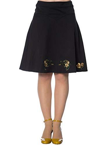 Banned Retro Etuirock Vera Velvet Skirt SK2244 Violett L