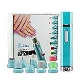 Pinkiou Nail Drill Machine Archivo de uñas eléctrico 9 en 1 Buffer Pulidor Manicura Pedicura Herramientas