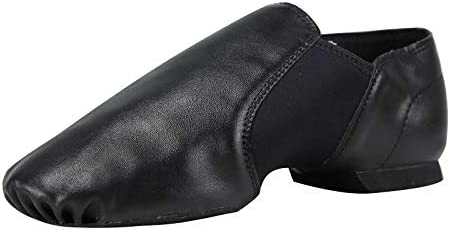 Linodes Unisex 006 PU Leather Upper Slip on Jazz Shoe for Women and Men s Dance Shoes Black product image