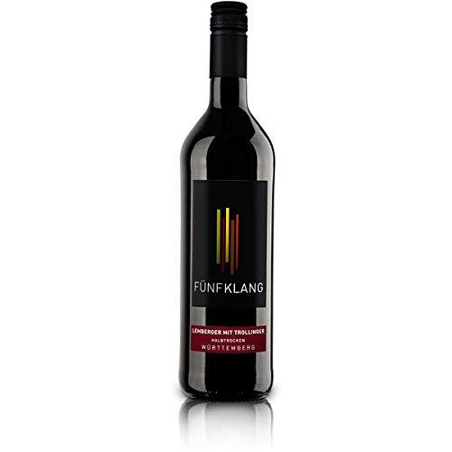 18 Flaschen Fünfklang Lemberger mit Trollinger a 750ml Rotwein