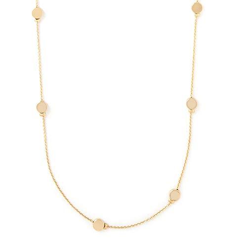 Collar Cadena de clavícula Collar de tendencia europea y americana Elegante collar largo de marca redonda