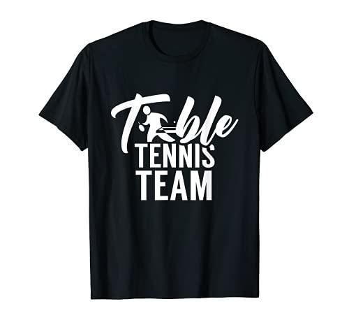 Equipo De Tenis De Mesa Amante Del Ping Pong Camiseta