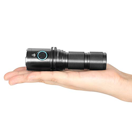 IMALENT DM70 LED EDC Taschenlampe 4500 Lumen, Cree XHP70 2.0 LEDs Wiederaufladbare Taschenlampen, Leistungsstarker Kompaktlampe (DM70)