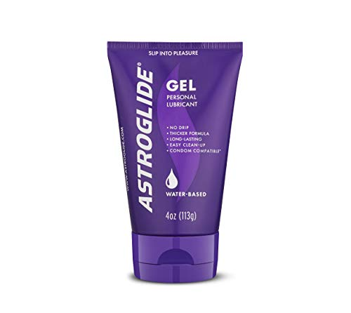 Astroglide Gel Personal Lubricant Super Slick Gel Formula Glides on Like Liquid Velvet and Easily Rinses Off in Water : Size 4 Oz. by Astroglide