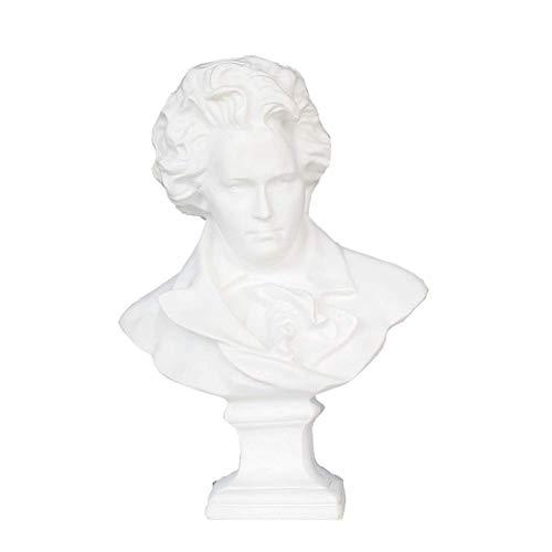 FTFTO Equipo Vivo Cabeza Busto Estatua Escultura Beethoven Busto Escultura Arte Resina Escultura Muebles artesanías Adornos Decorativos 60