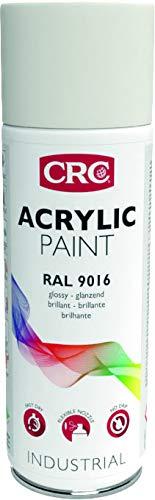 CRC 11683-AA - ACRYLIC PAINT. Pintura acrílica alto brico. Secado rápido. RAL 9016 blanco tráfico 400 ml