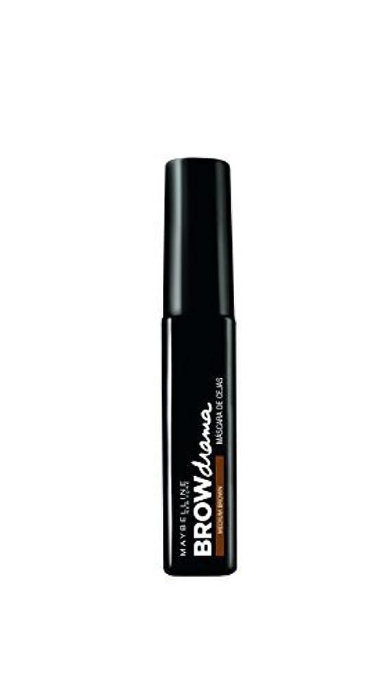 繁栄する仲間、同僚ストラップMaybelline Brow Drama Sculpting Brow Mascara - Medium Brown 7.6ml by Max Factor