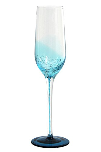 Novastyl 8012965,0 Flûte da Champagne, in Vetro, Ossigeno, 14,6 x 25,2 x 7,4 cm, 18 cl, Confezione da 2