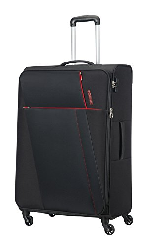 AMERICAN TOURISTER Joyride - Spinner 79/29 Expandable Equipaje de Mano, 79 cm, 106.5 Liters, Negro (Obsidian Black)