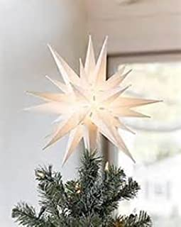 3d paper star tree topper