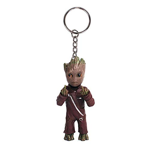 Baby Groot Schlüsselanhänger - Marvel Action-Figur aus Guardians of The Galaxy I AM Groot (Mittelfinger)