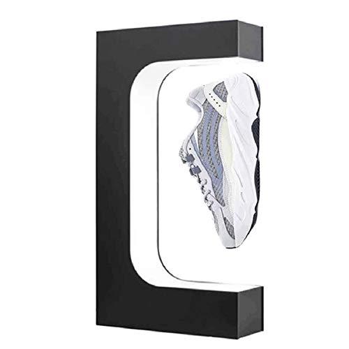 MKULOUS Klein Acryl Magnetischer Schwebender Schuhständer Sneaker-Ständer 360° Freie Drehung Ausstellungen Schwebender Schuhständer, 44 * 23 * 7CM