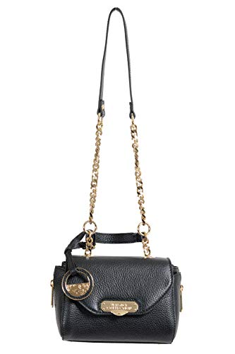 Versace Collection Women's Black Pebbled Leather Handbag Shoulder Bag